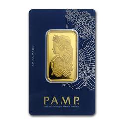 Genuine 1 oz 0.9999 Fine Gold Bar - PAMP Suisse Veriscan