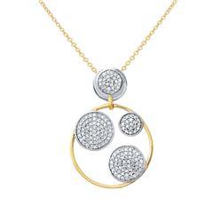 0.55 CTW Diamond Necklace 14K 2Tone Gold - REF-39W5H