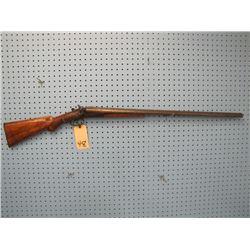 Janssen Sons 12 gauge double barrel shotgun exposed hammers one hammer braised on laminated Steel