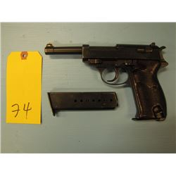 restricted-- Walther ac44 P38 semi automatic double action 9 mm two clips barrel length 125 mm