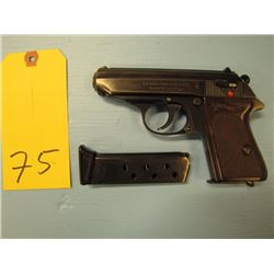 prohibited - - Walther PPK semi automatic double action two clips 7.65 mm German World War II issue