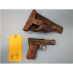 prohibited - - Mauser semi automatic pistol 25 calibre 76 mm Barrel badly pitted action does not cyc
