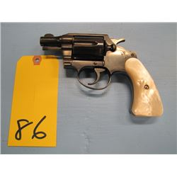 PROHIBITED... Colt Detective Special six shot revolver 38 Special pearl handle style grips double ac