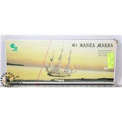 VINTAGE SANTA MARIA SHIP WOODEN