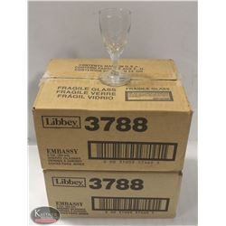 LOT OF 2 DOZEN LIBBEY 3 OZ SHERRY GLASSES