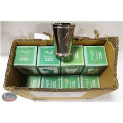 LOT OF 12 NICKEL PLATED 12OZ JULEP CUPS