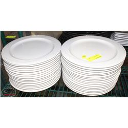 """LOT OF 33 SYRACUSE 10"""" DINNER PLATES - MADE IN USA"""