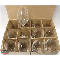CASE OF 12 NEW BORDEAUX WINE GLASSES - MADE IN
