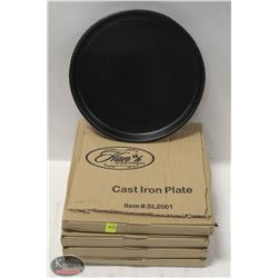 """LOT OF 5 NEW 8"""" CAST IRON PLATES"""