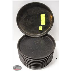 """LOT OF 10 USED 8"""" CAST IRON PLATES"""