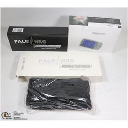 NEW PALM PREMIUM NRG TENS MACHINE W/ FOOT PAD &