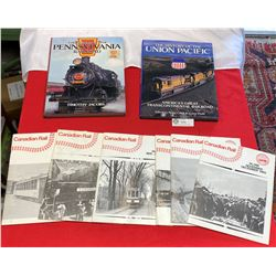 Lot of Hardcover Railway Books and Magazines