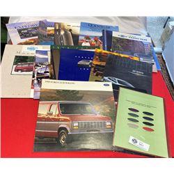 Lot of Van and Automotive Brochures