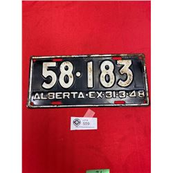 1948 Alberta License Plate