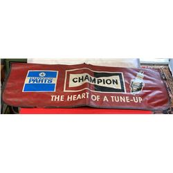 Vintage Champion Spark Plugs Leather Race Car Fender Cover