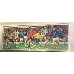 "Vintage Sunday Times 2002  World Cup Picture from Newspaper, Framed 64"" Long. No Shipping."
