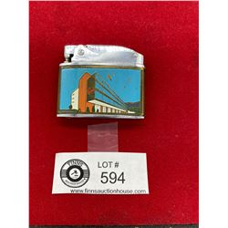 Vintage Capri Motor Hotel Vancouver BC Flat Lighter Cornwall Made in Japan