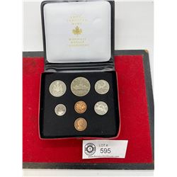 Royal Canadian Mint 1972 Coins Year Set in Original Holder