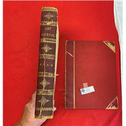 1849 The Art Journal With Front Cover Off. Large Hardcover Book