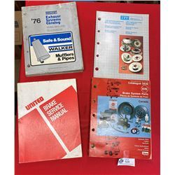 Lot  of 4 Break and Exhaust Catalogues