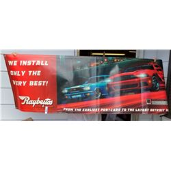 Raybestos 2013 Roush Stage 3 Mustang Banner Signed by Jack Roush