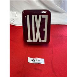 Vintage Red Exit Light Cover