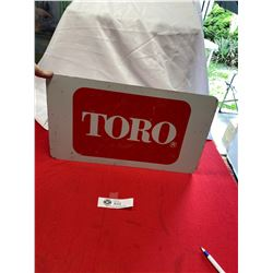 Vintage Toro Double Sided Metal Sign 16'x9""