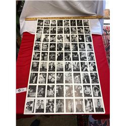 Vintage Uncut Sheet of Star Trek TV Show  Cards