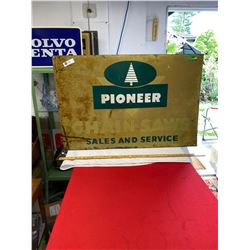 "Pioneer Chainshaws Sales and Service Sign 36"" x 24"""