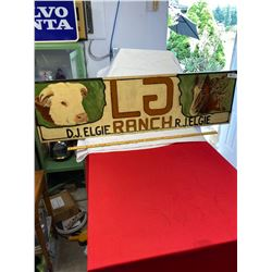 LG Ranch Wood Sign. Hand Painted