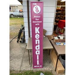 Kenddall Motor Oil Tall Metal Sign
