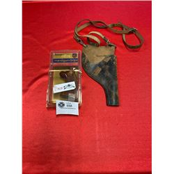 Vintage Holster and new in case Handgun Grips