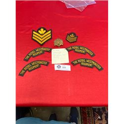 The Royal Westminister Regiment Cap Badge and Patches