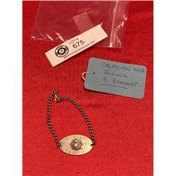 Canadian WW2 Silver ID Bracelet