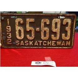 1932 Saskatchewan License Plate