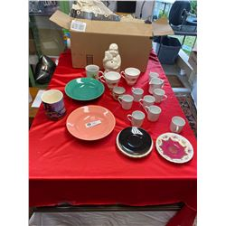 Box Lot of Vintage Cups, Saucers etc.