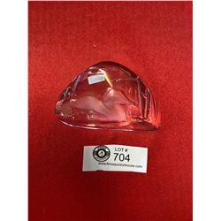 Hand Signed Mats Jonasson Crystal Sculpture