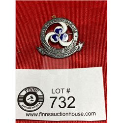 A Superb Sterling and Enamal Large Girl Guides Canada Pin