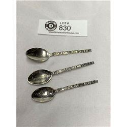 3 Vintage Sterling Silver Spoons