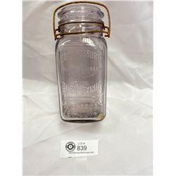 Vintage Mtch Safe Plus Edwardsburg Corn Syrup Jar ( Amethyst)