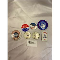 7 Old Space Shuttle Pins
