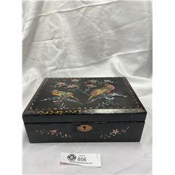Inlaid Antique Chinese Laquer Box 1910