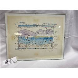 """Signed and Dated ( 1988) Watercolour """" The Beach"""""""