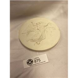 A Superb Wedgewood Style Chalkware Plaque