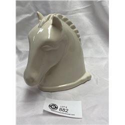 """Art Deco """" Abingdon""""  USA Pottery Horses Head 1930's"""