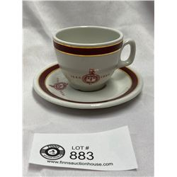 Royal Doulton Cup and Saucer Montefiore Club Montreal
