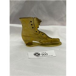 Victorian Brass Boot on Stand. Circa 1860-80. English