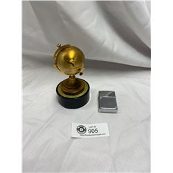 Nice Vintage Globe Table Lighter and a Zippo Lighter