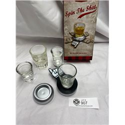 Spin The Shot Game with Extra Shot Glasses