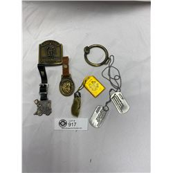Lot of Vintage Watch Fobs Dog Tags Etc